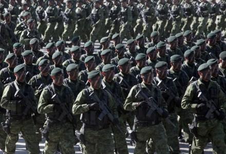 Elementos militares en el Heroico Colegio Militar. Foto: Germán Canseco