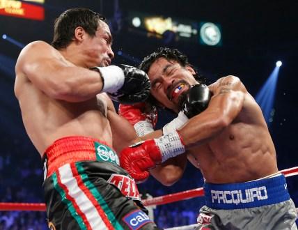 Márquez vence a Pacquiao en Las Vegas. Foto: AP / Eric Jamison.