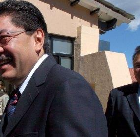Héctor Pablo Ramírez Puga Leyva (derecha), ahijado político del exgobernador de Oaxaca, Ulises Ruiz. Foto: Octavio Gómez