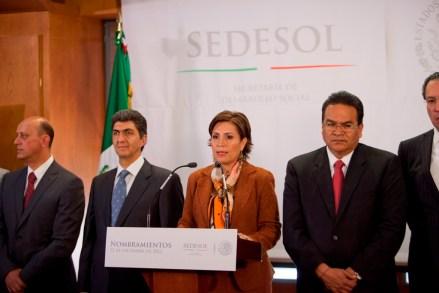Rosario Robles, titular de la Sedesol. Foto: Miguel Dimayuga
