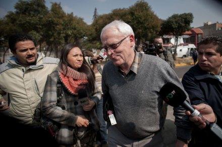 Bernard Cassez, en espera de la liberación de su hija. Foto: Xinhua / Pedro Mera