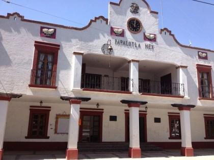 La presidencia municipal del pueblo. Foto: Armando Gutiérrez
