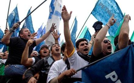 El Día de Trabajo en Argentina. Foto: AP