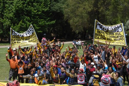 Una de las protestas contra el Proyecto Hidroeléctrico Alto Maipo. Foto: Especial