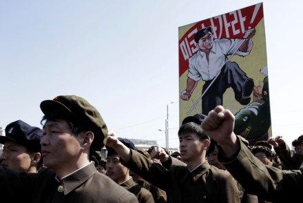 Norcoreanos respaldan guerra contra Estados Unidos. Foto: AP