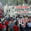 Sindicalistas protestan contra reformas laboral, educativa, energética... Foto: Germán Canseco