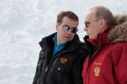 Medveded y Putin. Afanes faraónicos. Foto: Reuters / RIA Novosti