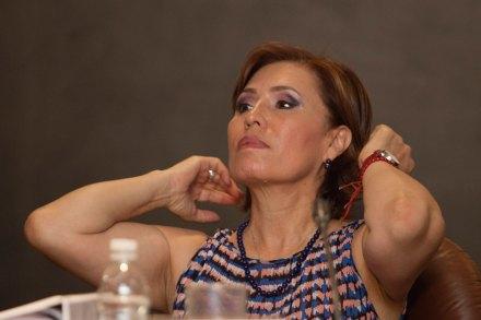 La titular de la Sedesol, Rosario Robles. Foto: Miguel Dimayuga