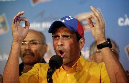 El día de los resultados, Capriles desconoció la elección. Foto: AP