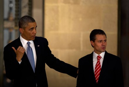 Obama y Peña en Palacio Nacional en mayo pasado. Foto: Xinhua / David de la Paz