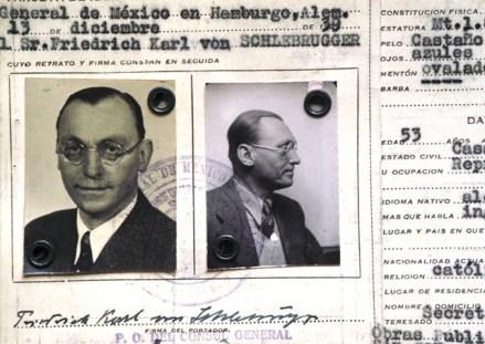 Von Schlebrugger. Espionaje