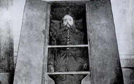 El cadáver de Maximiliano de Habsburgo. Foto: Especial