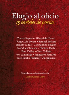 Elogio al oficio, nuevo libro de Gómez Carro.