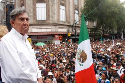 Cuauhtémoc Cárdenas. Foto: Hugo Cruz.