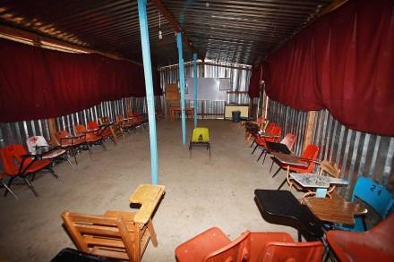 Un salón de clases vacío en Oaxaca. Foto: Xinhua / Max Núñez