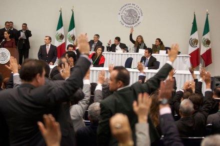 La sesión de los diputados en el Centro Banamex. Foto: Octavio Gómez