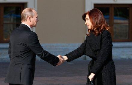 Putin y Kirchner en el G-20. Foto: AP