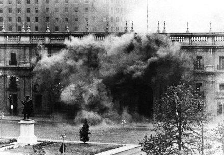El ataque a La Moneda. Foto: Reuters