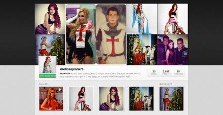 La cuenta en Instagram de Melissa Plancarte.
