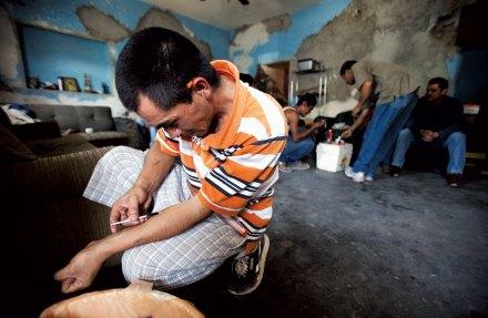 Un adicto a la heroína en Ciudad Juárez, Chihuahua. Foto: Germán Canseco