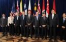Los mandatarios adheridos al TPP. Foto: AP
