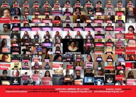 """Reporteros exigen la aparición de """"Goyo"""". Foto: Tomada de Facebook"""