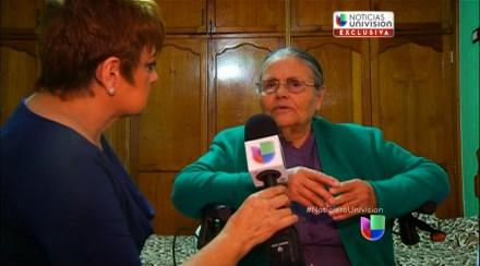 """Consuelo Loera, madre de """"El Chapo"""", en su casa en la sierra de Badiguarato. Foto: Univision Noticias"""