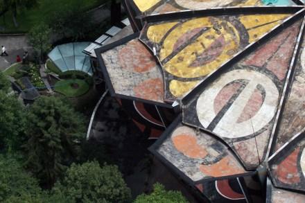 El techo del Polyforum Cultural Siqueiros. Foto: Alejandro Saldívar