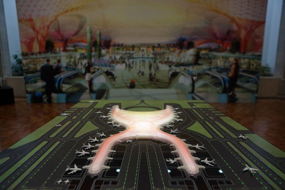 La maqueta del nuevo aeropuerto para el DF. Foto: Octavio Gómez