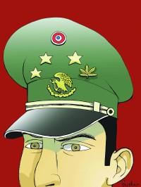 El Ejército y el narco. Cartón: Rocha