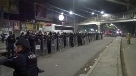 Desalojo de maestros. Foto: Gobierno de Oaxaca