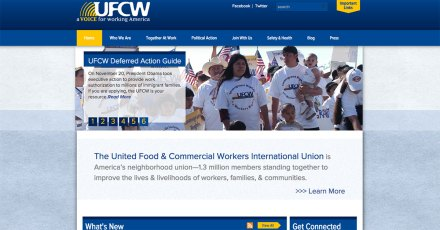 La página web de la UFCW.