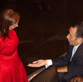 Cristina Díaz y Roberto Gil en el Senado. Foto: Eduardo Miranda