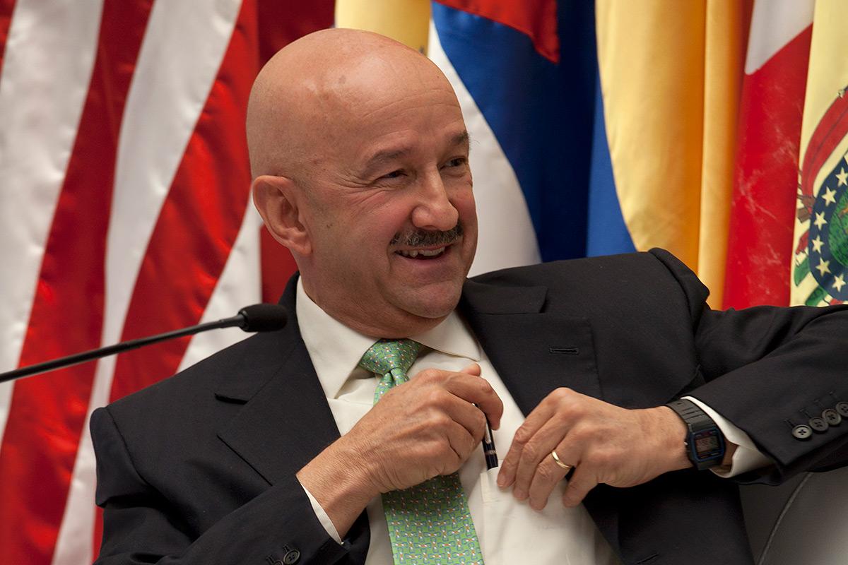 Carlos Salinas, expresidente de México. Foto: Miguel Dimayuga