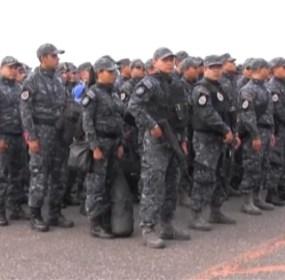 Los elementos de la Gendarmería que llegaron a Michoacán. Foto: Especial