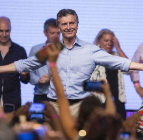El candidato del Frente Cambiemos, Mauricio Macri, ganó las elecciones presidenciales en Argentina. Foto: Xinhua