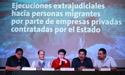 Vázquez Morales, Solalinde, Gutiérrez, Martínez y Ríos y Verdugo en conferencia de prensa. Foto: Benjamin Flores