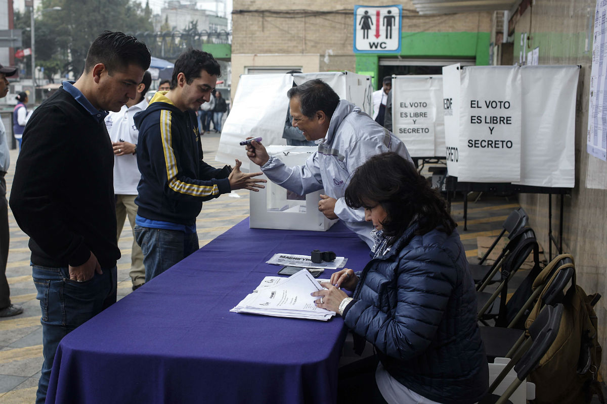 Consulta sobre el Corredor Chapultepec en la delegación Cuauhtémoc. Foto: Germán Canseco
