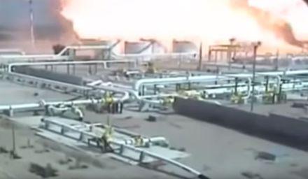 Explosión en una planta de gas en el sur de Nigeria. Foto: Especial