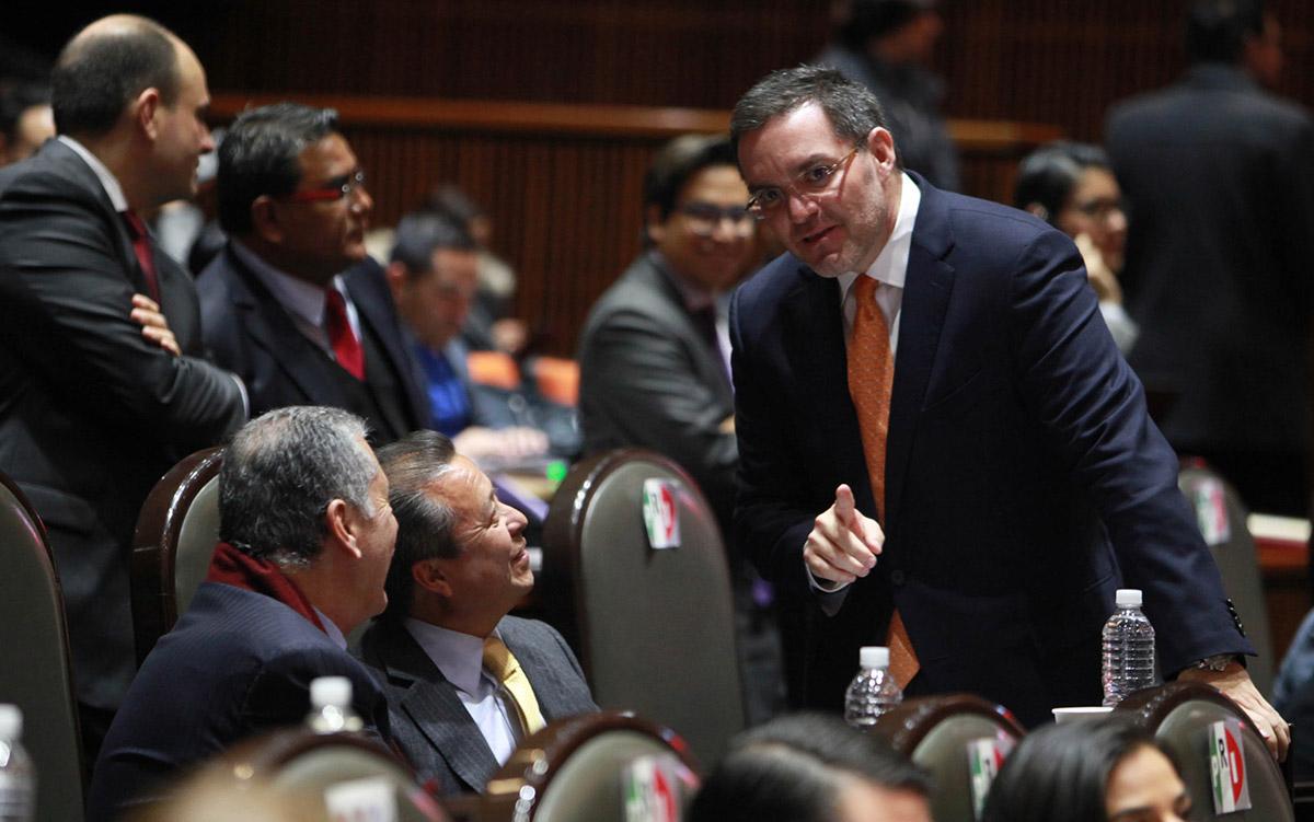 Camacho y Döring durante la sesión en San Lázaro. Foto: Benjamin Flores