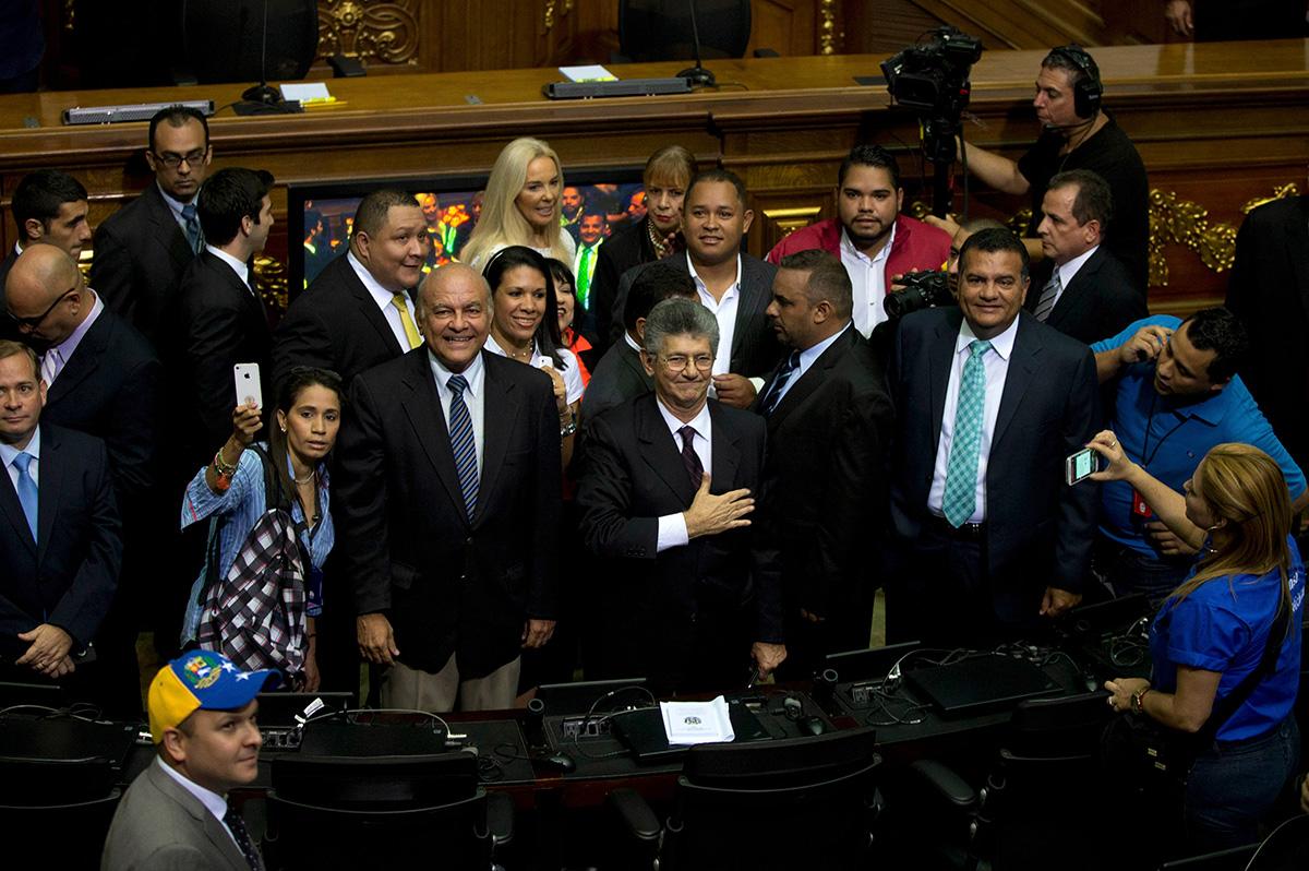Henry Ramos, presidente de la Asamblea Nacional venezolana. Foto: AP / Fernando Llano
