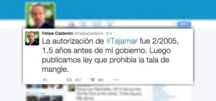 El deslinde de Calderón en Twitter.