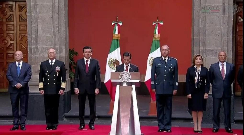 """El presidente Enrique Peña Nieto dio un mensaje por la captura de """"El Chapo"""" Guzmán. Foto: Presidencia"""