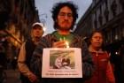 Marchan a 16 meses de la desaparición de los 43 normalistas de Ayotzinapa. Foto: Germán Canseco