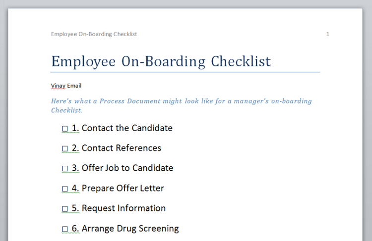 Free Onboarding Checklists And Templates Smartsheet Export Download And Print Process Templates As Word