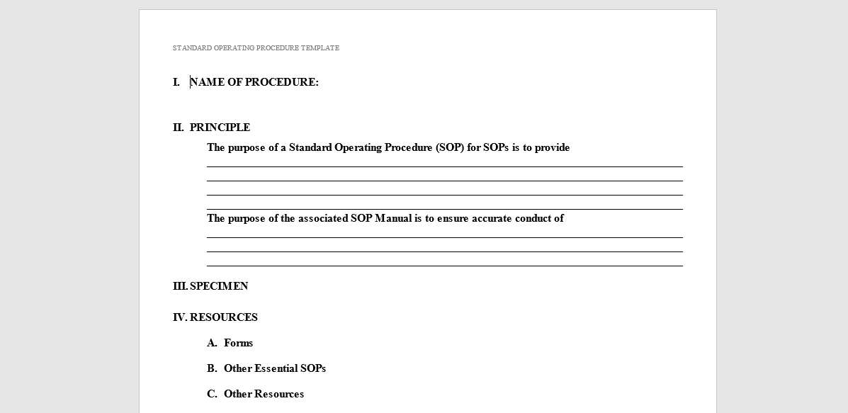88 Method Of Procedure Template Standard Operating