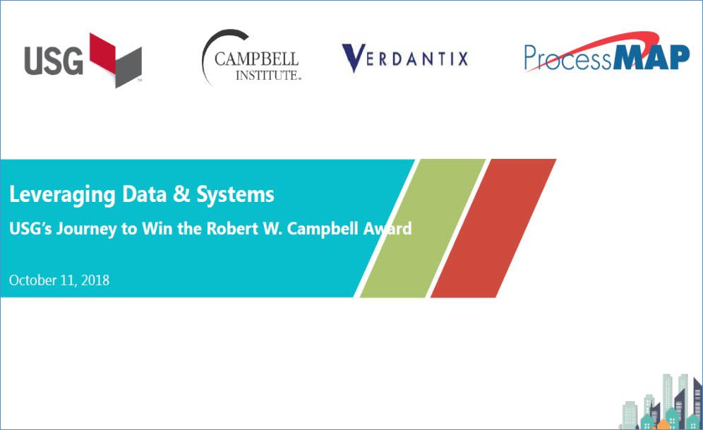 USG\u0027s Journey to Win the Robert W Campbell Award - ProcessMAP