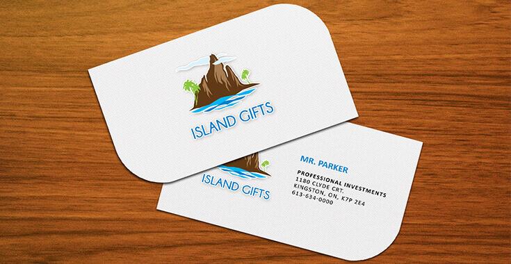 Leaf business cards design, leaf shaped business cards - ProDesigns