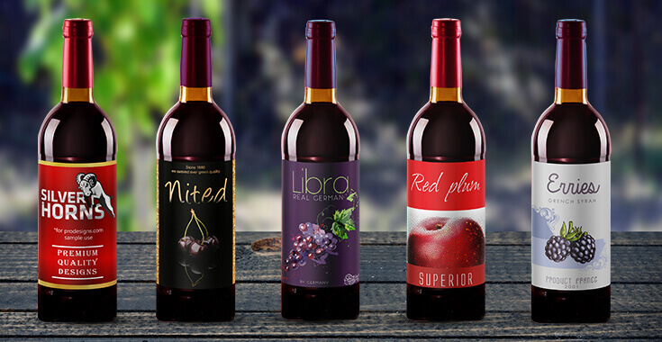 Wine Label Design, Personalized Wine Bottle Labels - ProDesigns - wine label