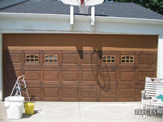 Faux Wood Garage Door Tutorial - Prodigal Pieces